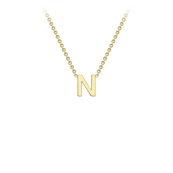 9K Yellow Gold 'N' Initial Adjustable Necklace 38cm/43cm | The Jewellery Boutique Australia