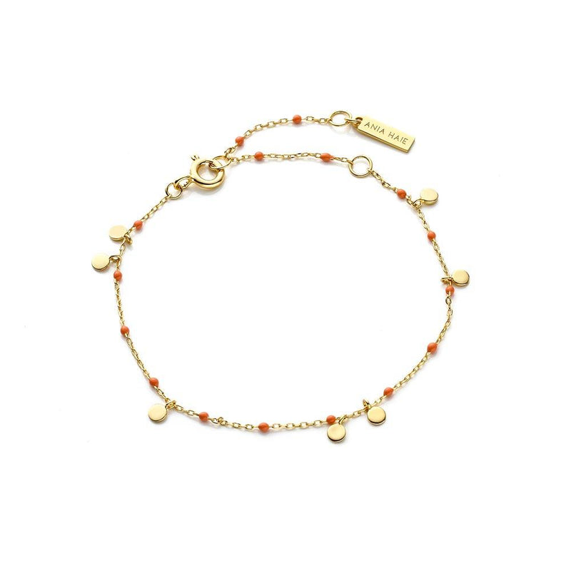 Ania Haie Dotted Drop Discs Bracelet - Gold
