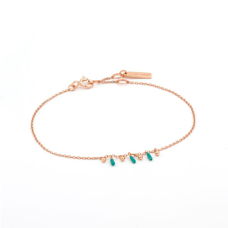 Ania Haie Dotted Triple Drop Bracelet - Rose Gold