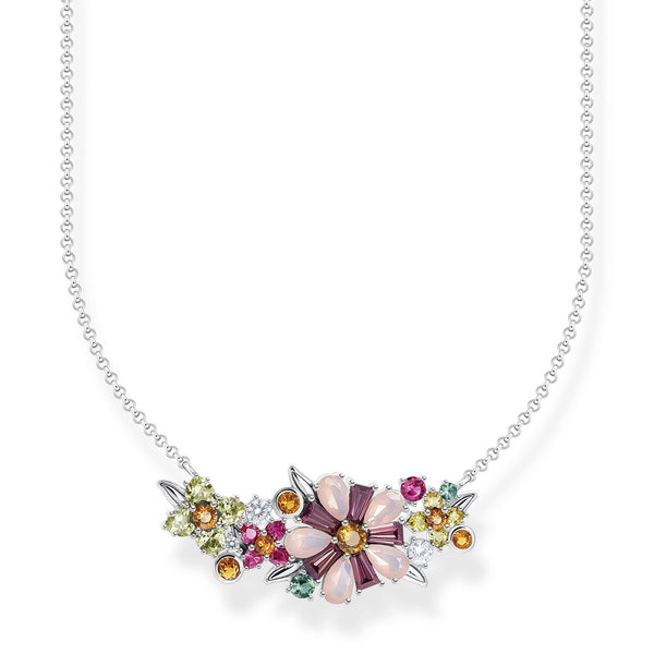 Thomas Sabo Necklace Flowers Silver