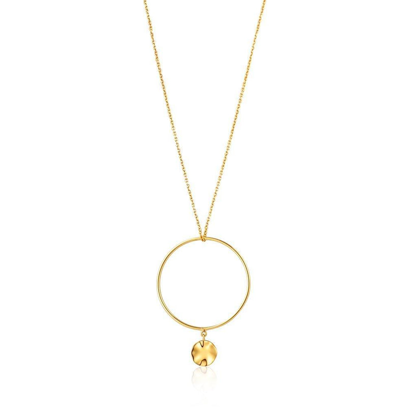 Ania Haie Ripple Circle Necklace - Gold