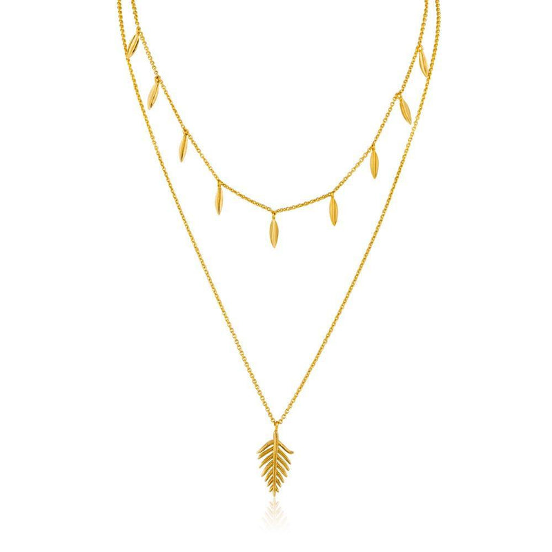Ania Haie Tropic Double Necklace - Gold