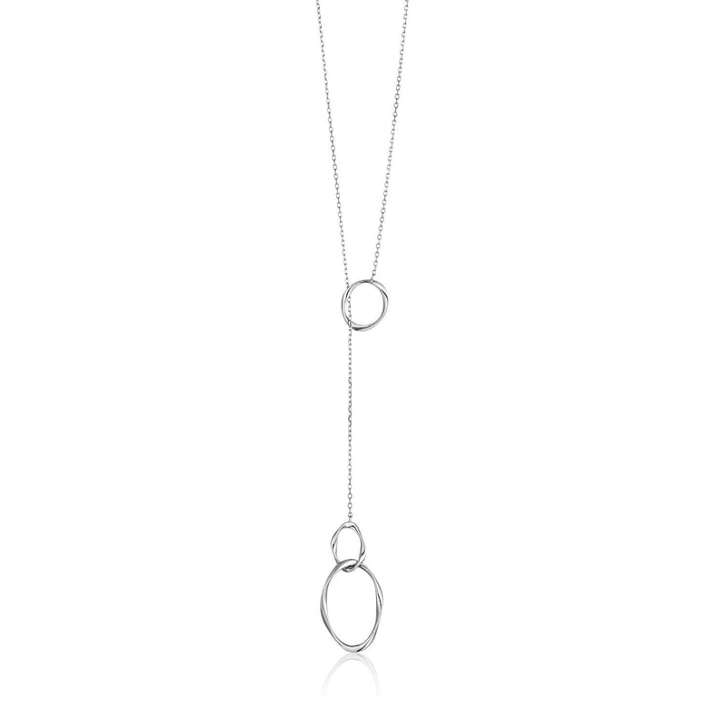 Ania Haie Swirl Nexus Necklace - Silver