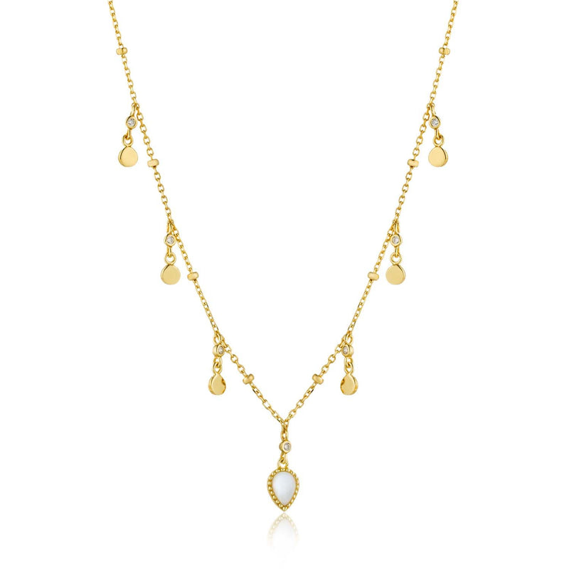 Ania Haie Dream Drop Discs Necklace - Gold