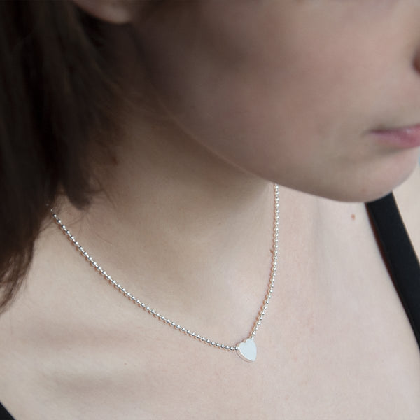 Najo Sterling Silver Polly Heart Necklace