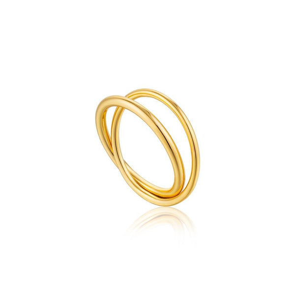 Ania Haie Modern Double Wrap Ring - Gold
