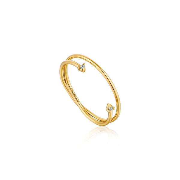 Ania Haie Shimmer Double Ring - Gold