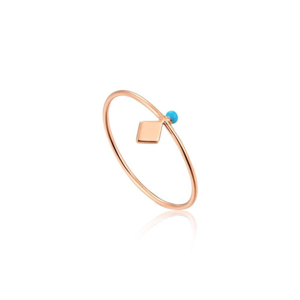 Ania Haie Dotted Stud Ring - Rose Gold
