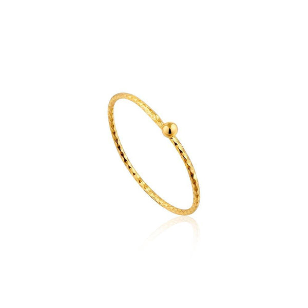 Ania Haie Texture Small Ball Ring - Gold