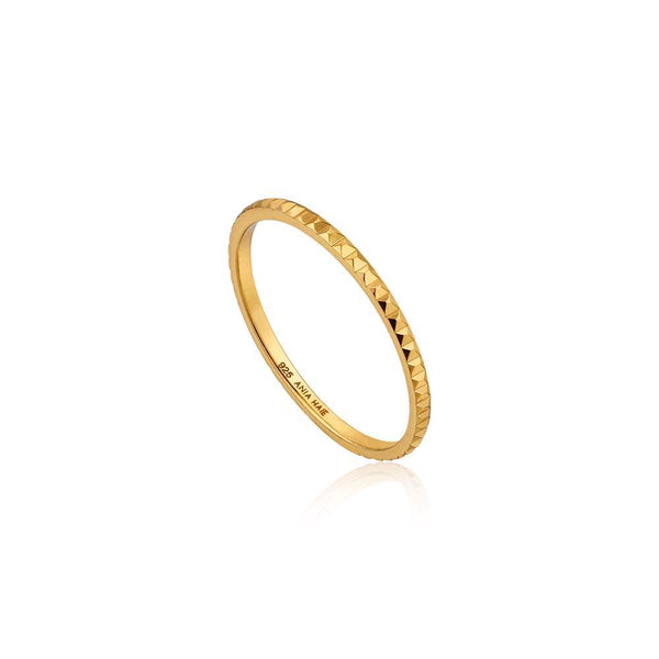 Ania Haie Texture Band Ring - Gold