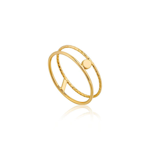 Ania Haie Texture Double Band Ring - Gold