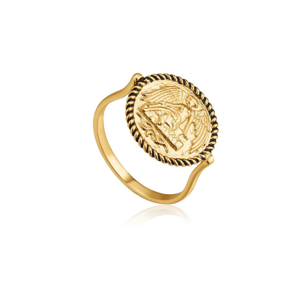 Ania Haie Winged Goddess Ring - Gold