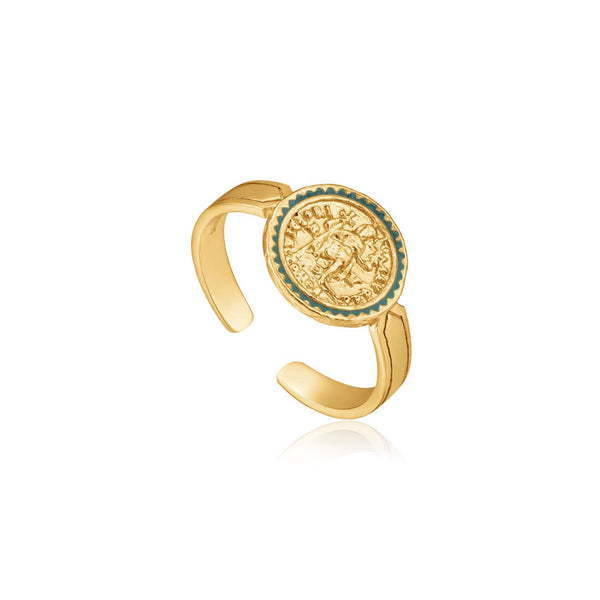 Ania Haie Emperor Adjustable Ring - Gold
