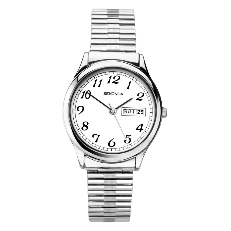 Sekonda Silver Case Expander White Dial Watch