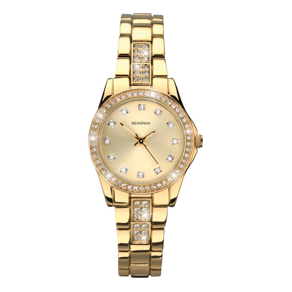 Sekonda White Mother Of Pearl Dial Two Tone Rose Gold and Silver Plate Bracelet Watch