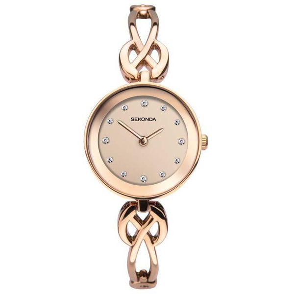 Sekonda Rose Gold Plate Case Rose Dial Rose Bracelet Watch