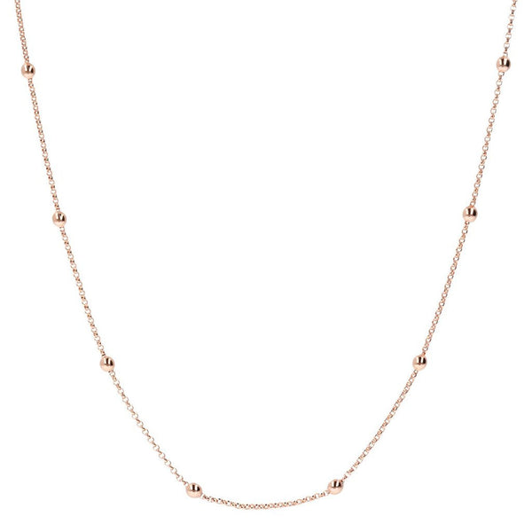 Bronzallure Mini Rolo Beaded Chain