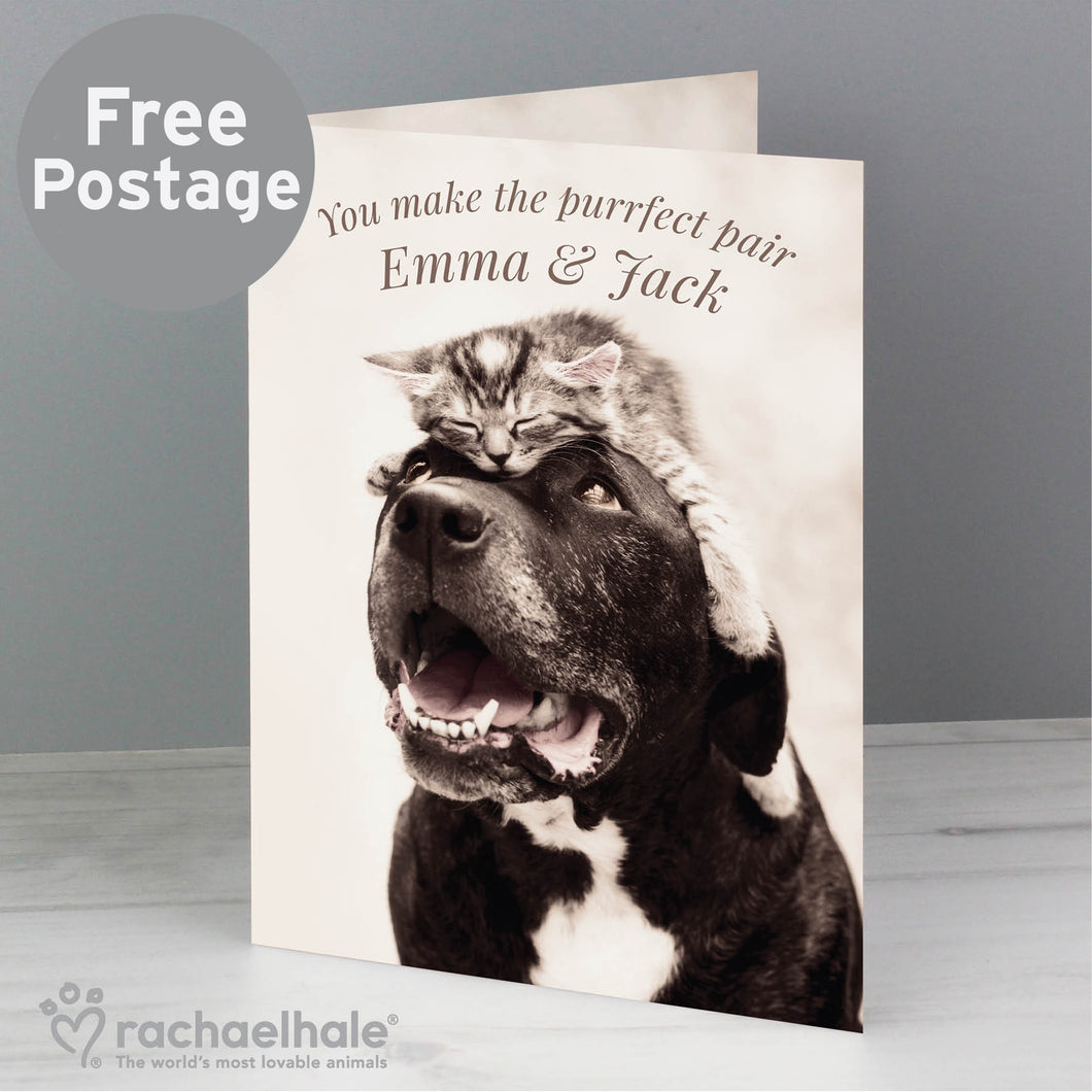 Personalised Rachael Hale Puurfect Pair Card