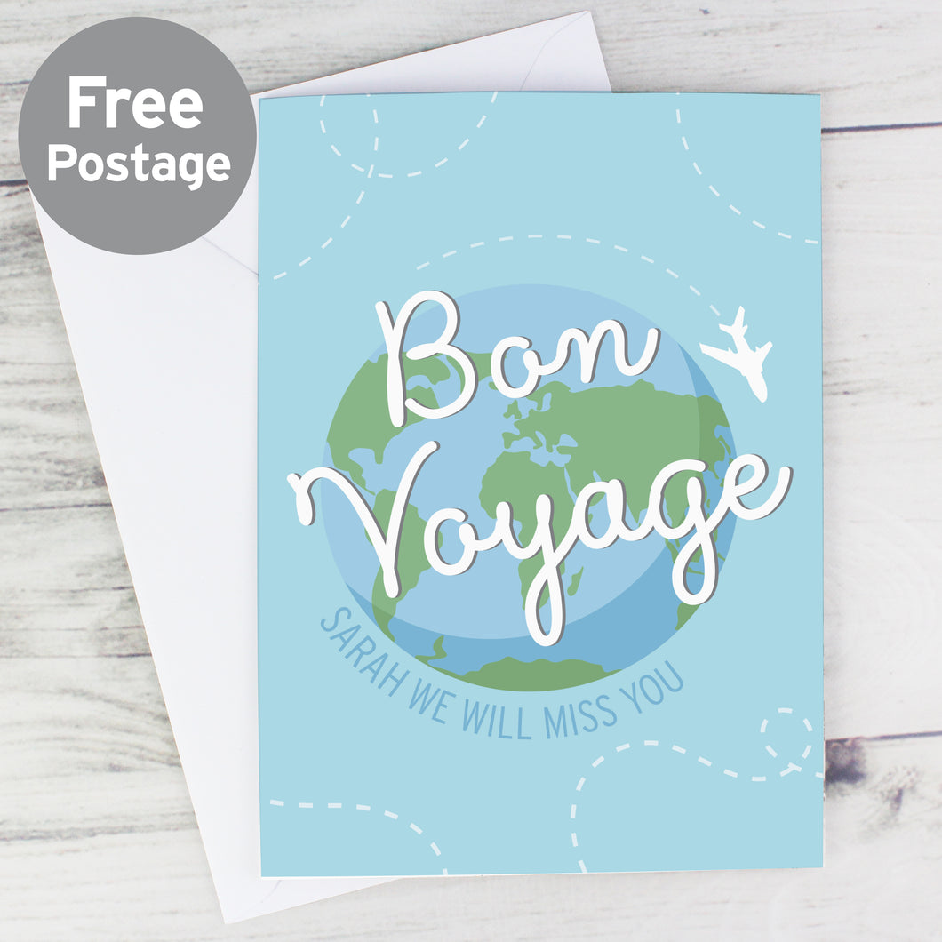 Personalised Bon Voyage Card