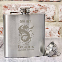 Load image into Gallery viewer, Personalised Dragon Breath Potion Hip Flask
