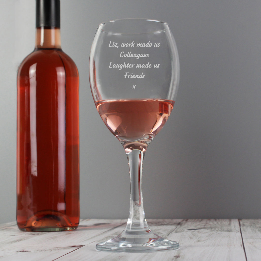 Personalised Any Message Wine Glass