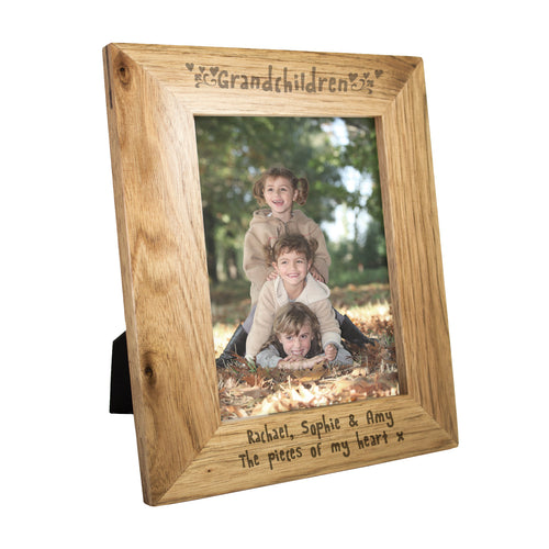 Personalised Grandchildren 7x5 Wooden Photo Frame
