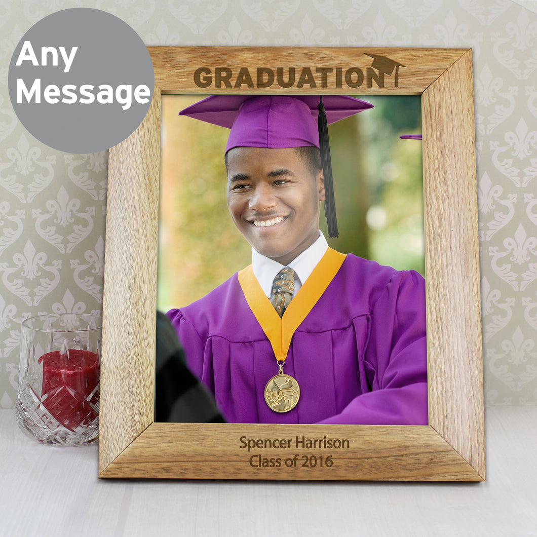 Personalised Graduation 10x8 Wooden Photo Frame