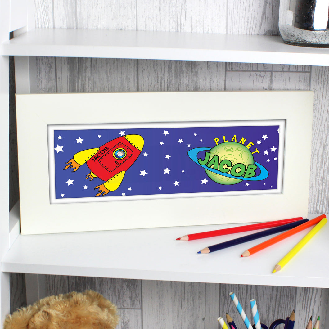 Personalised Space Name Frame