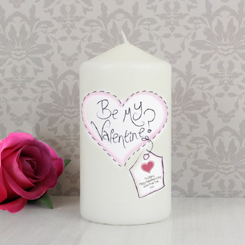 Personalised Stitch Heart Candle