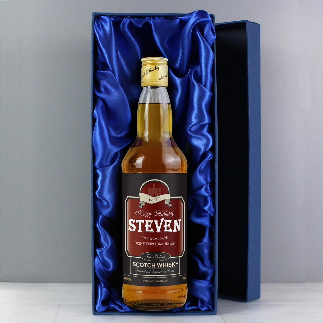 Personalised Happy Birthday Whisky with Gift Box