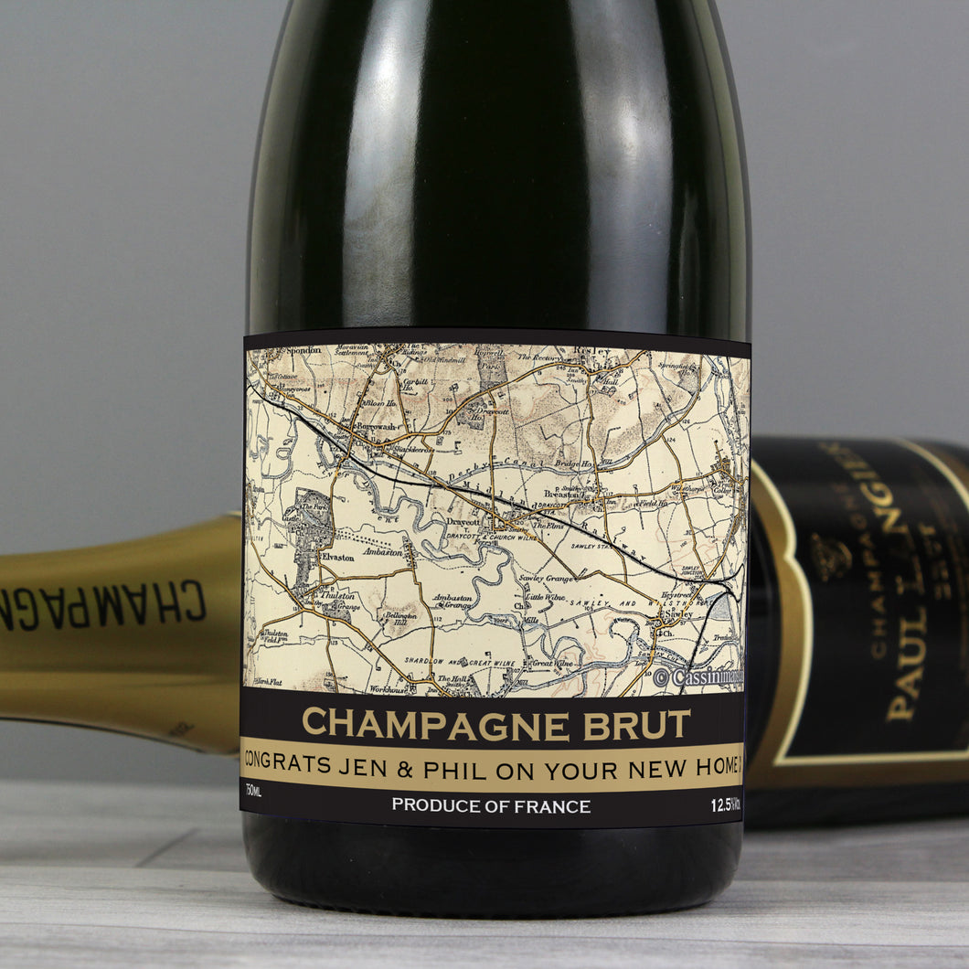 Personalised 1896 - 1904 Revised New Map Champagne