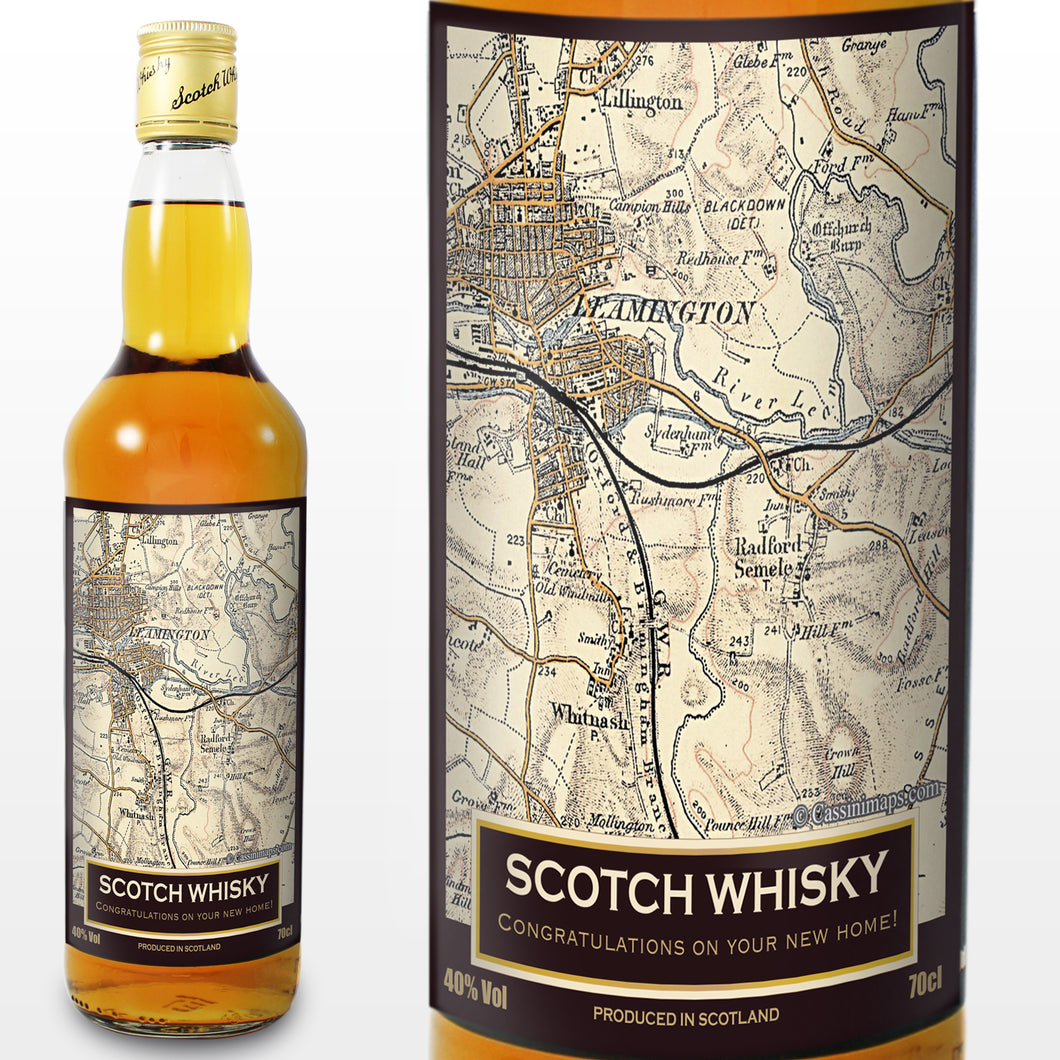 Personalised 1896 - 1904 Revised New Map Whisky
