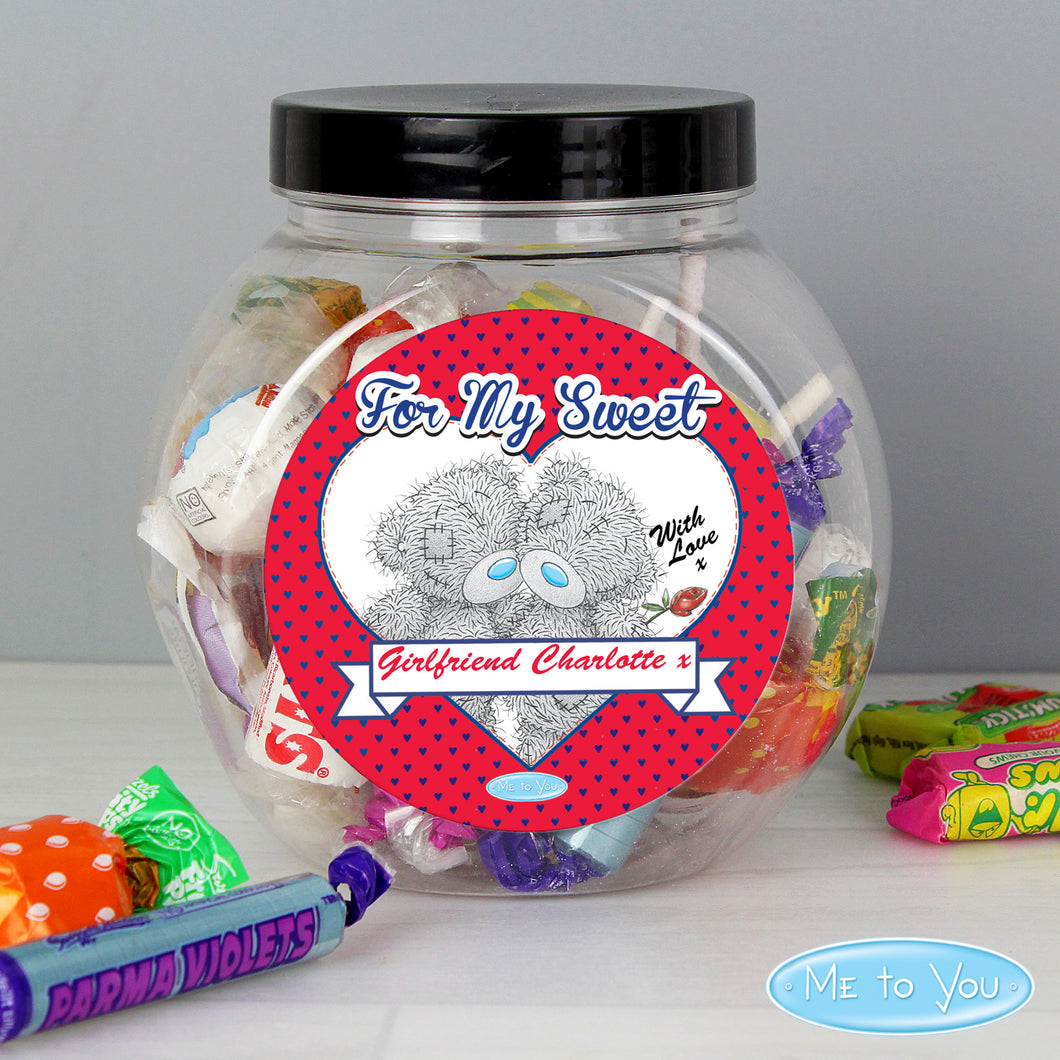 Personalised Me to You Couple Sweet Jar