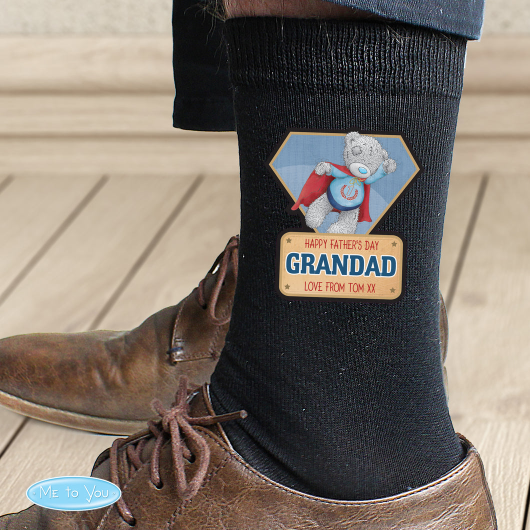 Personalised Me To You Super Hero Mens Socks