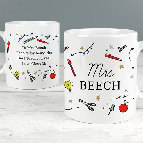 Personalised School Teachers Mug