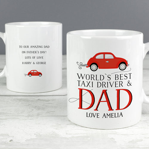 Personalised Worlds Best Taxi Driver Dad Mug