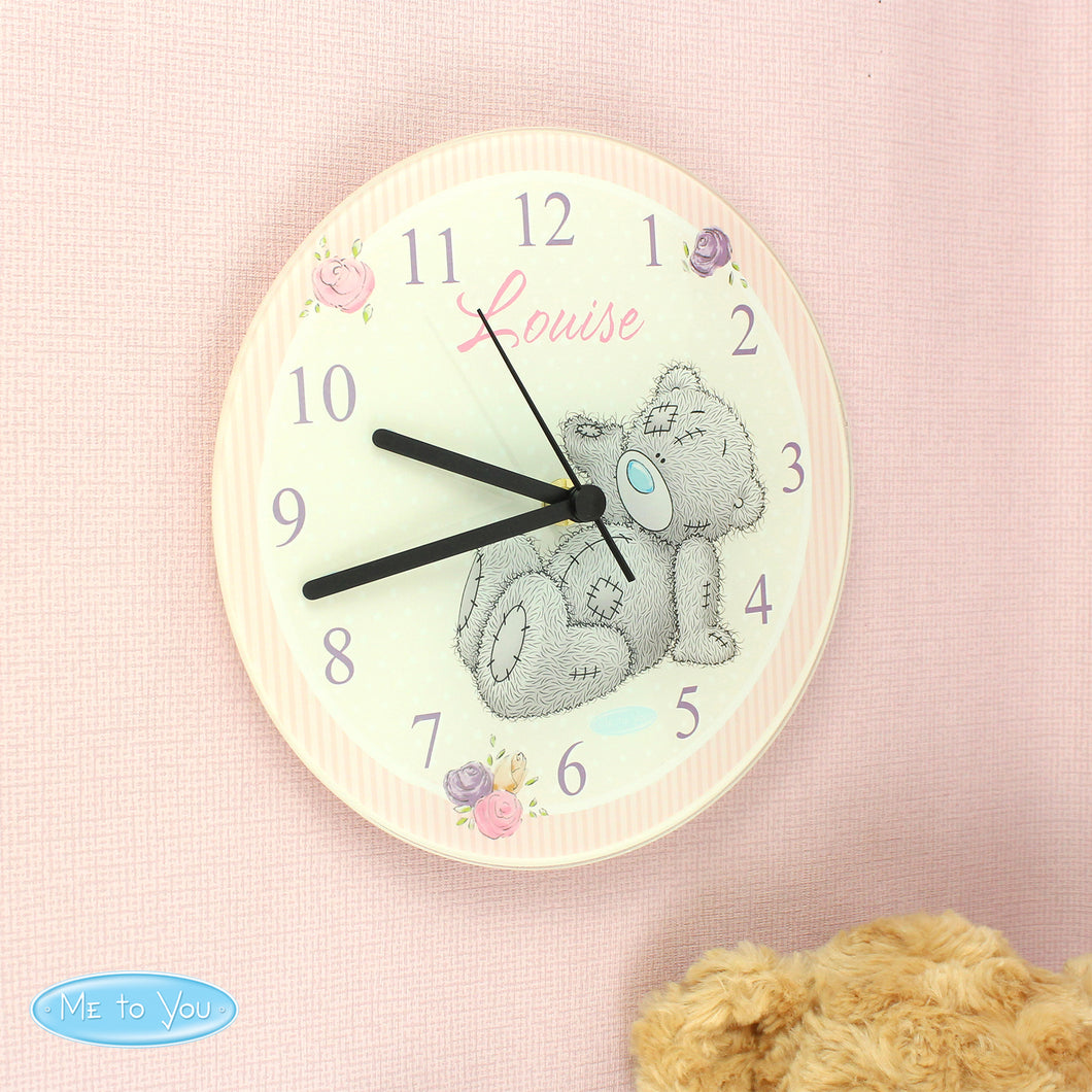 Personalised Me To You Glass Clock