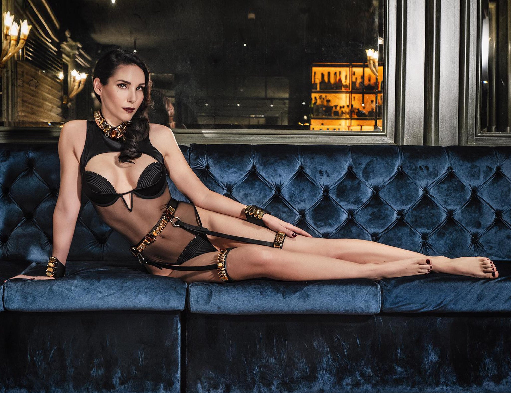 Babooshka Underwired Bodysuit styled with Luxury Lingerie accessories