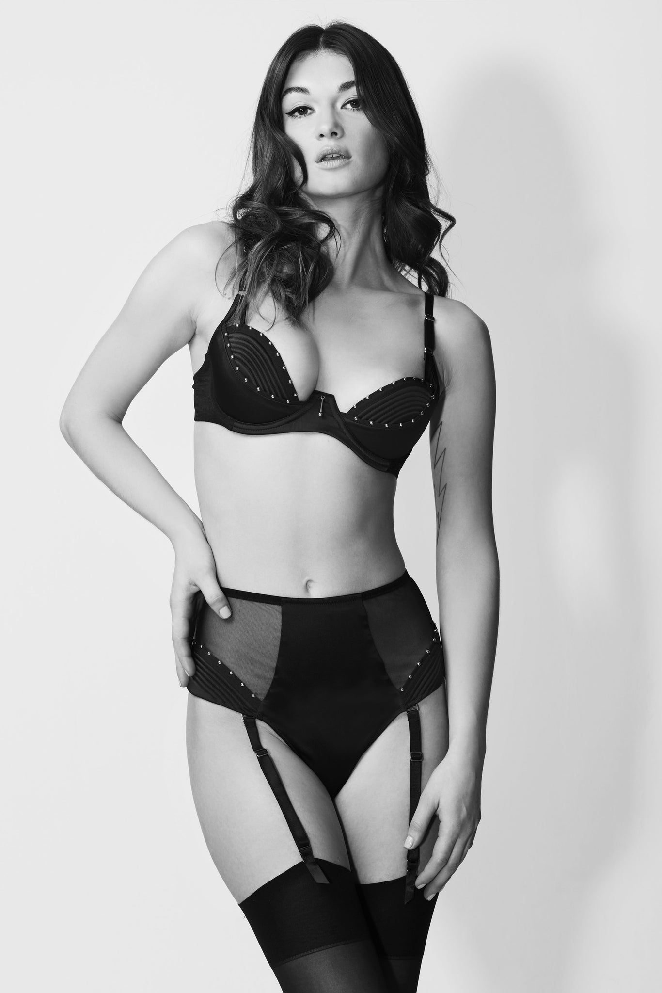 Babooshka Suspender Thong and Babooshka Deep Plunge Bra