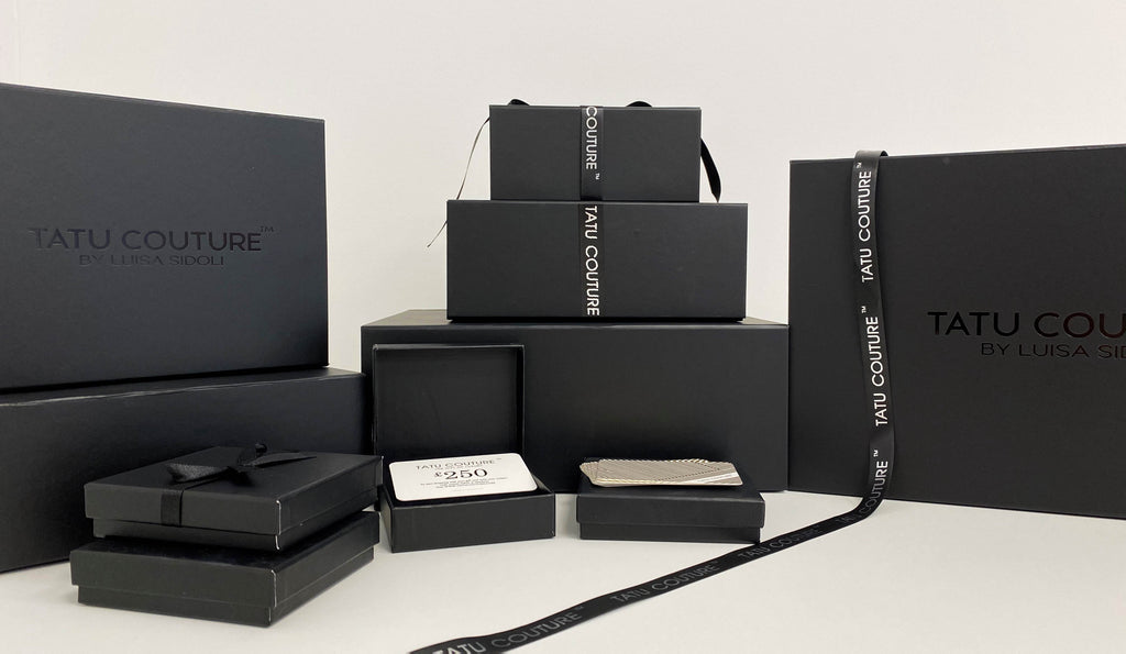 Luxury gift packaging by Tatu Couture