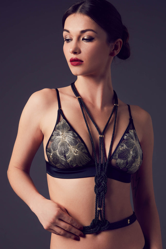 Ayako luxury fashion body harness | Designer lingerie by Tatu Couture