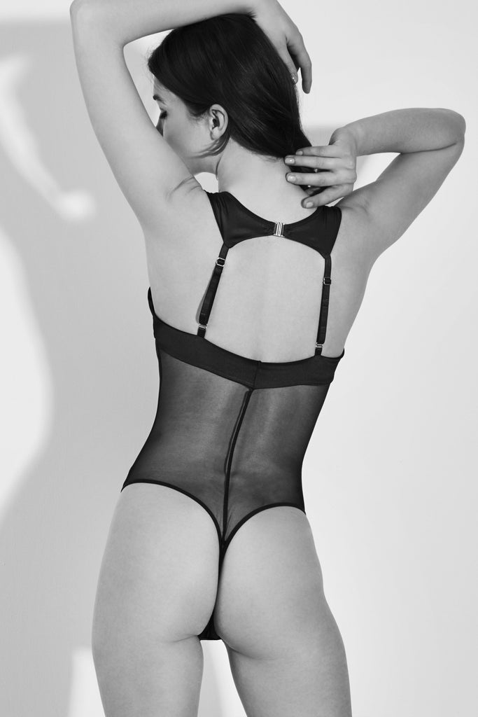 Babooshka black thong bodysuit