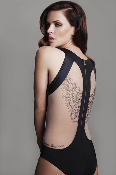 Tatu Couture Carine Body back view on model