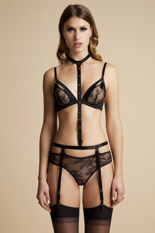Tatu Couture Gigi Harness thong on model