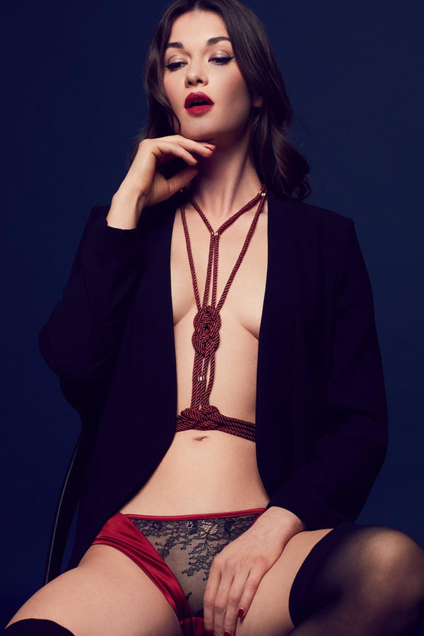 Aiko high fashion body harness | Luxury bondage lingerie