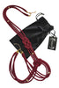 Bordeaux red rope body harness with satin gift bag