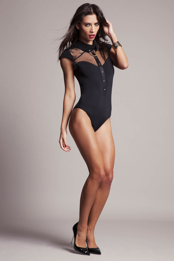 Katya Collar  bodysuit |  Luxury lingerie collection by Tatu Couture