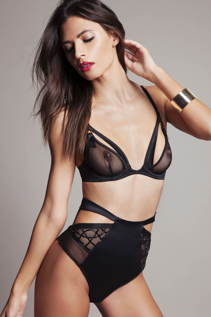 Tatu Couture Sylvia ouvert bra with Krystyna hi waisted brief