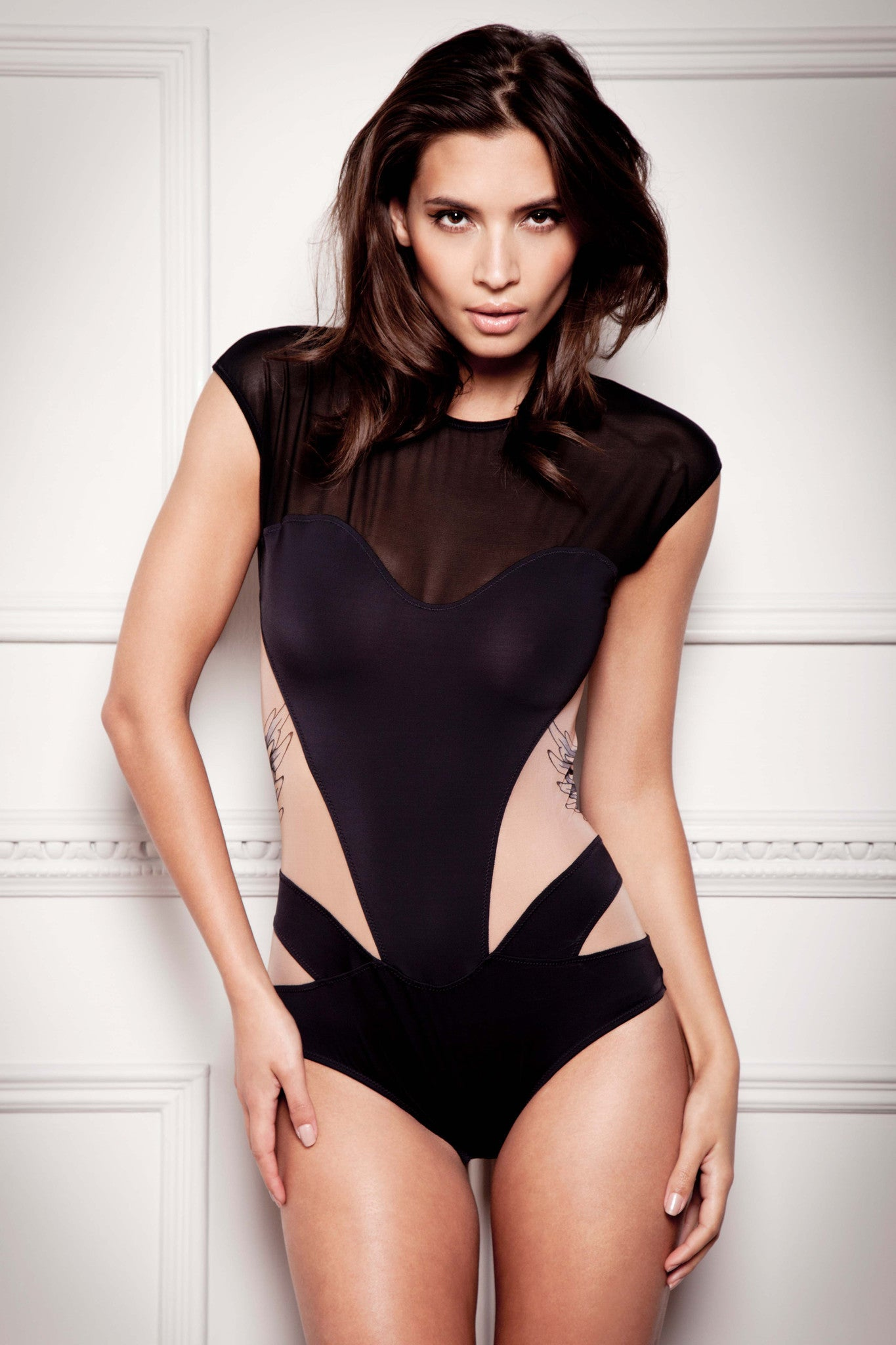 Tatu Couture Lana Bodysuit front view on model