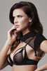 Josephine Collar & body Harness with detachable black lace brief